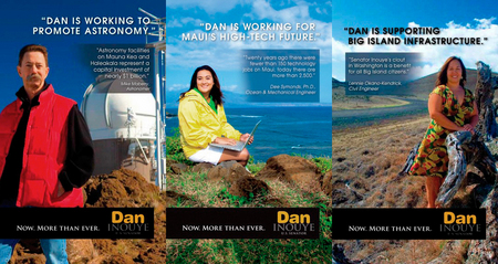Advertising Photography/Environmental Portraits/ Re-election Campaign of US Senator Daniel Inouye